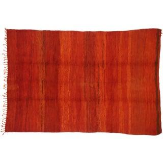 Vintage Berber Moroccan Red Beni Mrirt Rug - 6'11 X 10'3 For Sale