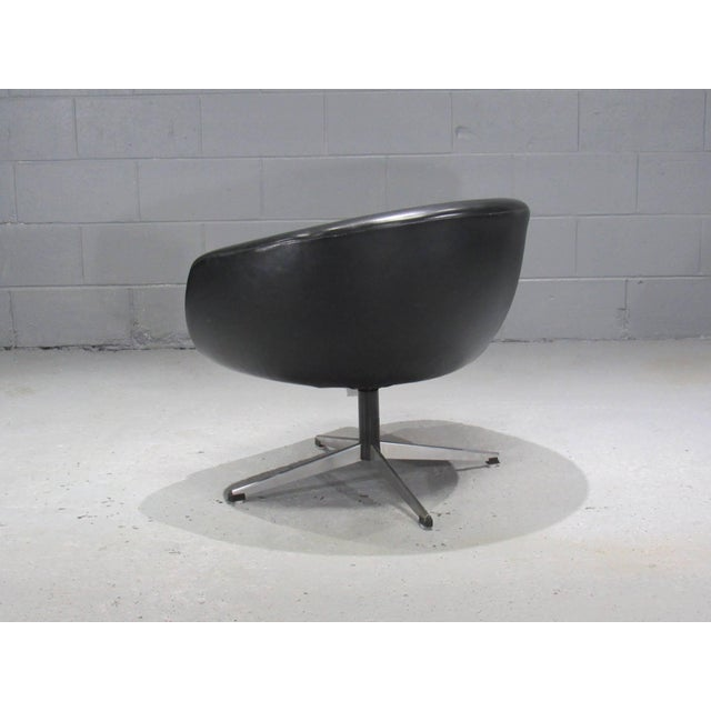 Overman Sweden Black Swivel Pod Chair by Overman For Sale - Image 4 of 6