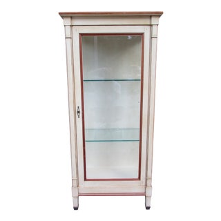 20th Century French Grange Lighted Display or Curio Cabinet
