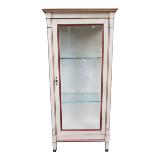 20th Century French Grange Lighted Display or Curio Cabinet For Sale