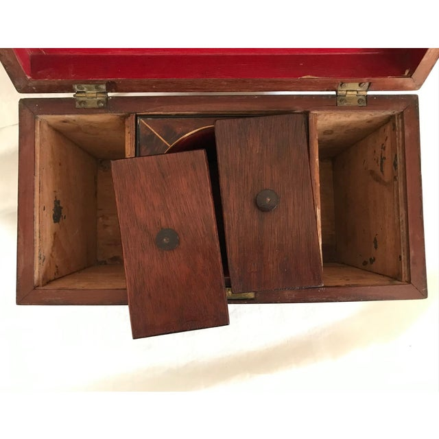 19th Century English Rosewood Tea Caddy For Sale In West Palm - Image 6 of 11