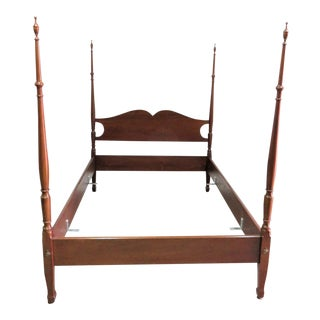 Biggs Hepplewhite Solid Mahogany Full Size Poster Bed For Sale