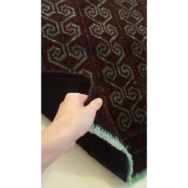 Dark Wool Turkish Rug - 2′8″ × 3′8″ For Sale In Chicago - Image 6 of 8