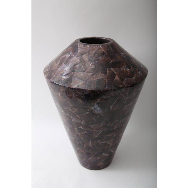 Large Purple Aubergine Coloured Pen Shell Vase For Sale - Image 9 of 10