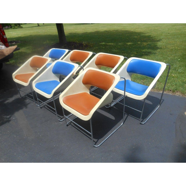 """Artoplex """"Lotus"""" Stacking Chairs - A Pair - Image 10 of 11"""