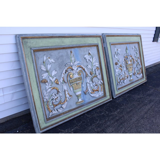 Late 18th Century Swedish Neoclassic Gustavian Wall Panels- A Pair For Sale - Image 9 of 12