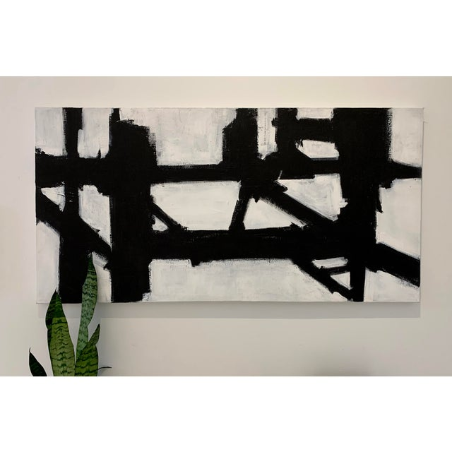 This beautiful black and white acrylic painting on canvas is the perfect compliment to any home. Created with an...