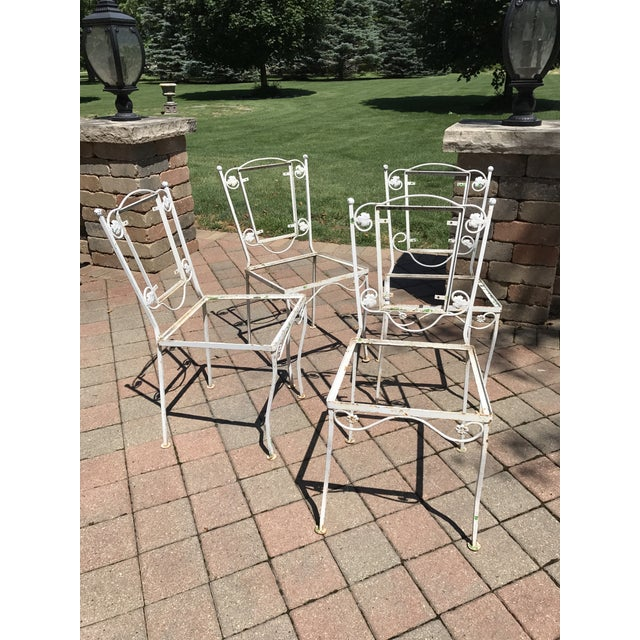 Vintage Wrought Iron Chairs - Set of 4 - Image 2 of 8