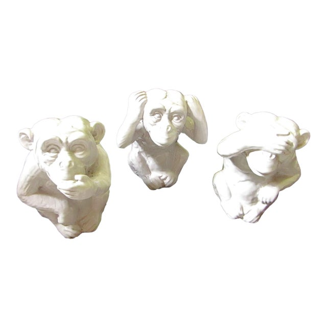 """Hear No, Speak No, See No Evil"" Monkey Statues - Set of 3 - Image 1 of 8"