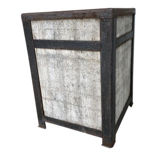 Mecox Gardens Iron and Reclaimed Wood Pallet Planter For Sale
