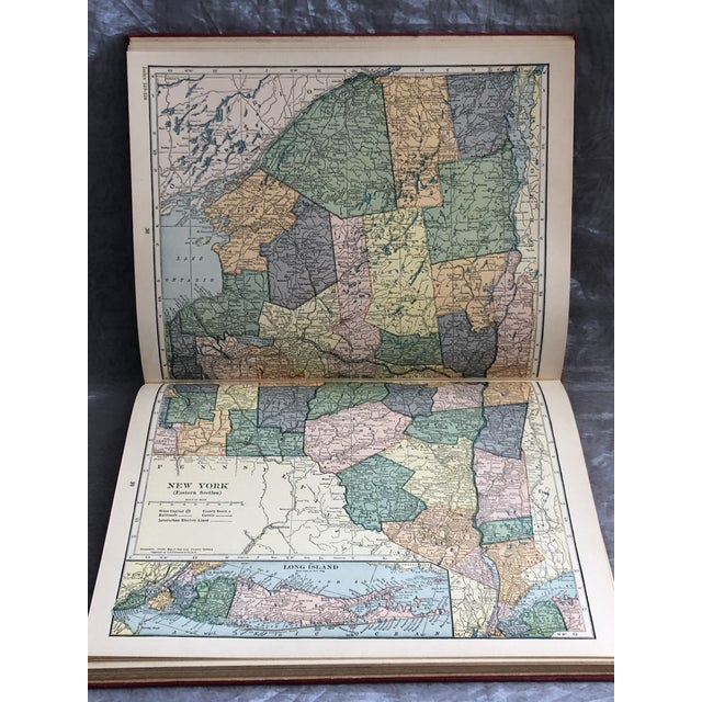 1920s World Atlas With Decorative Cover For Sale - Image 10 of 13