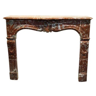 Louis XV Style Marble Mantel