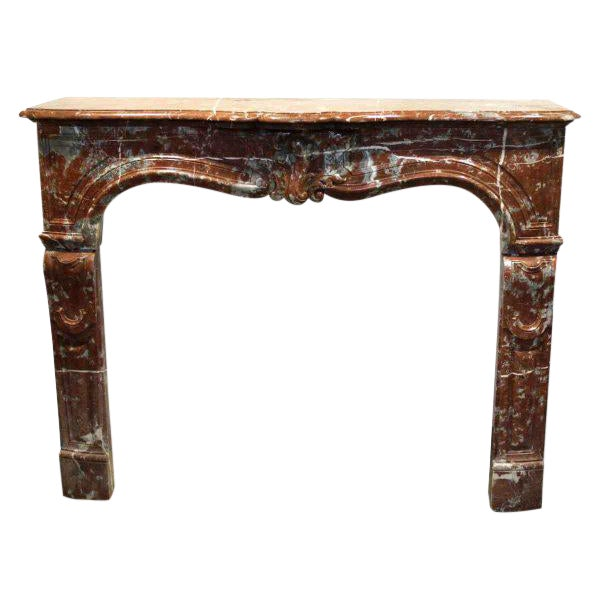 Louis XV Style Marble Mantel - Image 1 of 6