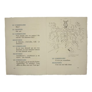 """Pages 130/127"", Original Lithograph From the Illustrated Play, ""Orphee"", by Jean Cocteau, Circa 1944 For Sale"