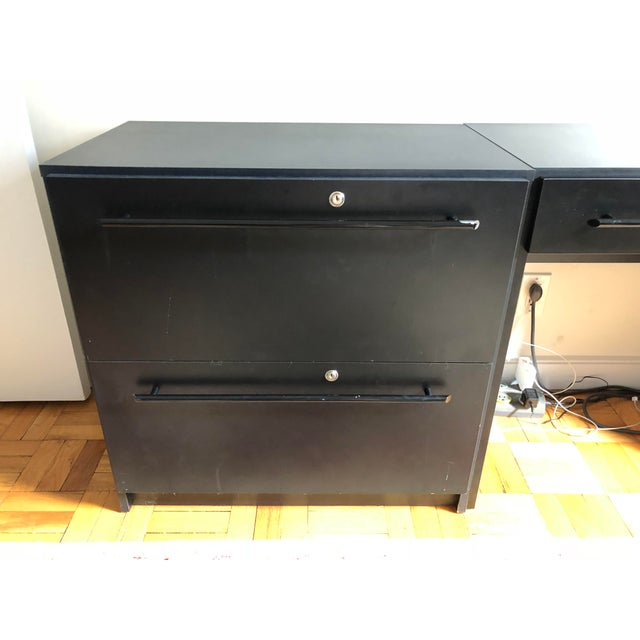 Office Modular Filing Cabinet Desk & Chair For Sale - Image 11 of 13