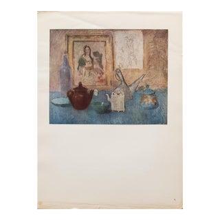 "1948 Original Picasso ""Nature Morte Au Tableau"" Lithograph For Sale"