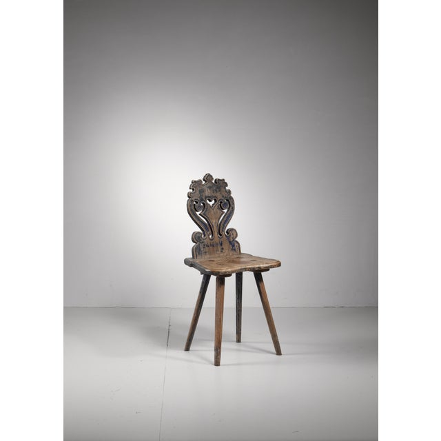 Late 19th Century Swedish folk art chair, 19th century For Sale - Image 5 of 5