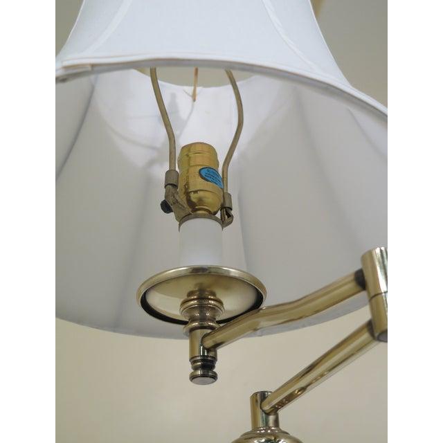 1990s 1990s Vintage Regency Style Brass Floor Lamp For Sale - Image 5 of 7