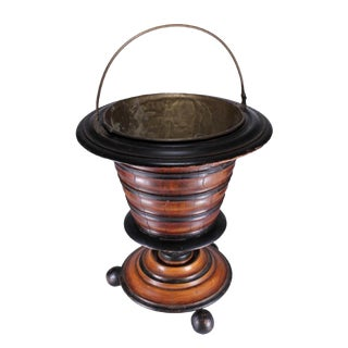 18th/19th C. Ebonized Fruitwood Coal Bucket For Sale