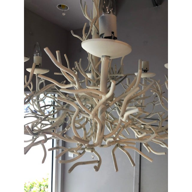 1960s Sculptural Vintage Faux Coral Iron Chandelier For Sale - Image 5 of 8
