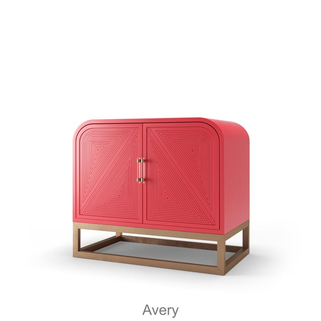 Not Yet Made - Made To Order Avery Credenza - Bull's Eye Red For Sale - Image 5 of 5