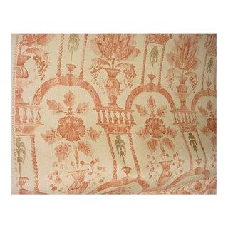 Lee Jofa Rye Damask Fox Italian Villa Print Upholstery Fabric - 16 3/8 Yards For Sale