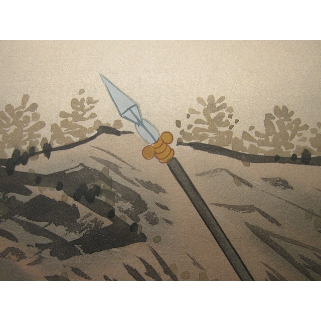 Painted Hunting Scene Mural Wallcovering For Sale - Image 11 of 12