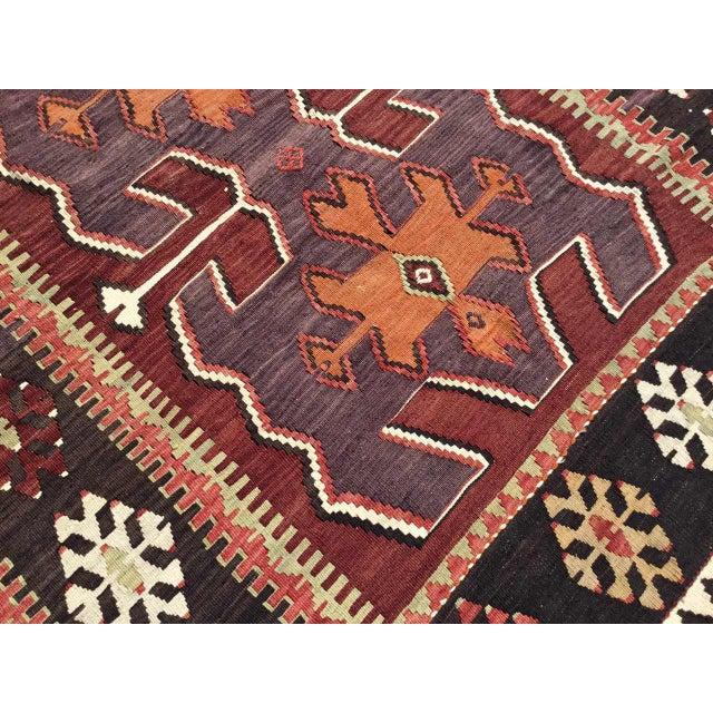 Black Vintage Turkish Kilim Rug For Sale - Image 8 of 10
