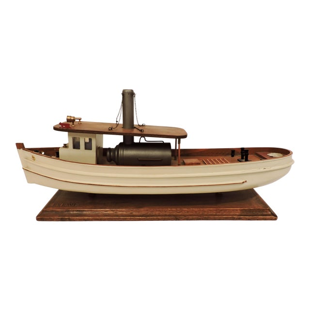 Wooden Model Of A Prohibition Rum Runner For Sale