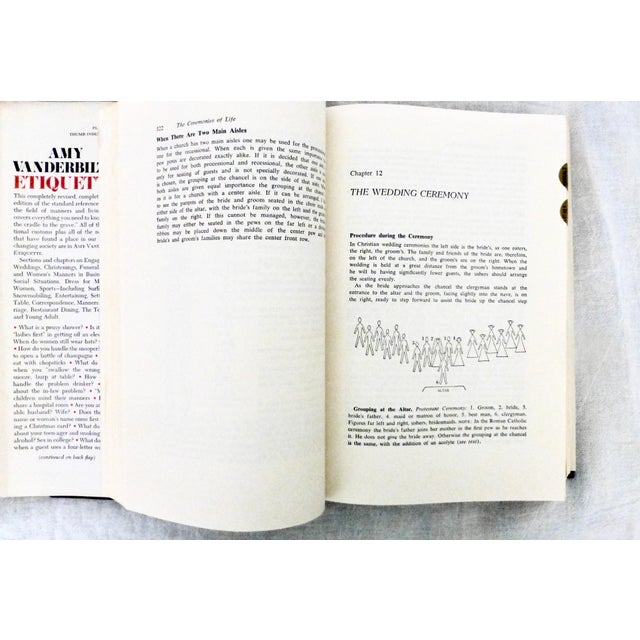 Red 1978 Amy Vanderbilt's Etiquette Book, Illustrated W Warhol Drawings For Sale - Image 8 of 10