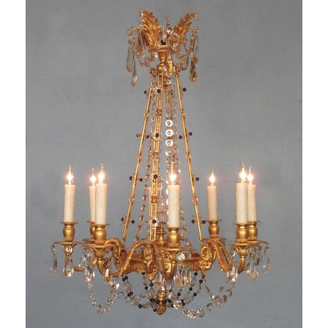 Excellent early 20th century french louis xiv bronze dore crystal early 20th century french louis xiv bronze dore crystal and amethyst chandelier image 2 of mozeypictures Gallery