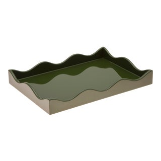 Rita Konig Collection Small Belles Rives Tray in Olive For Sale