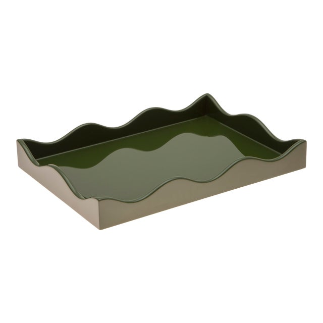 Small Belles Rives Tray in Olive - Rita Konig for The Lacquer Company For Sale
