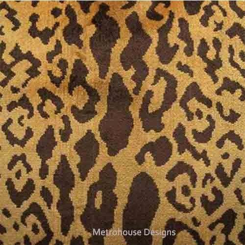 Brand: Scalamandre Fabric: 60% Silk, 27% Cotton, 13% Polyester Description: Authentic Scalamandre Silk Velvet Leopardo...