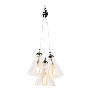 Triple Cone Hanging Light