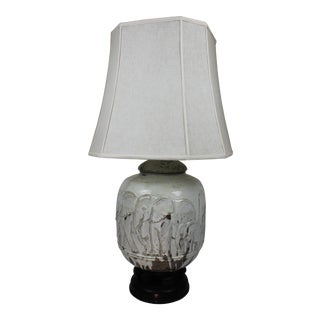 Wonderful Massive Mid-Century Elephant Ceramic Table Lamp For Sale