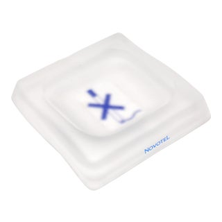 Novotel Frosted Glass Ashtray For Sale