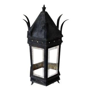 French Iron and Glass Lantern