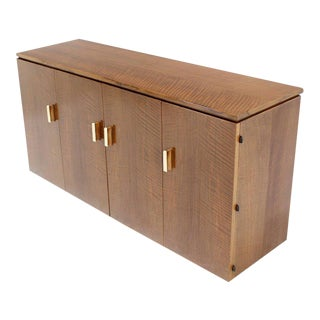Vintage Mid Century Tiger Maple Sideboard For Sale