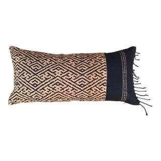 Hand Woven Laotian Textile Lumbar Pillow For Sale
