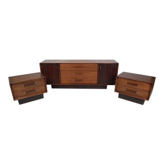 Midcentury Dresser and Nightstands by Lane Furniture Co. For Sale