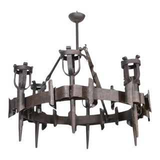 Antique French Torchiere Chandelier, Circa 1900 For Sale