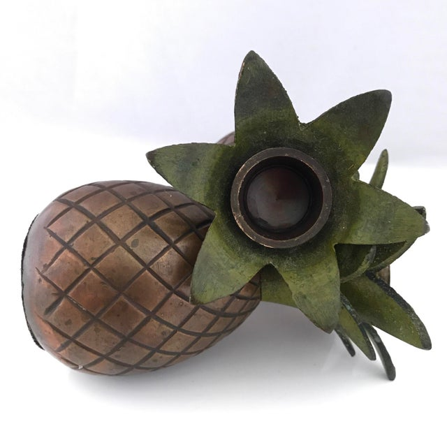 Pineapple Candle Stick Holder Palm Beach Style - a Pair For Sale - Image 4 of 11