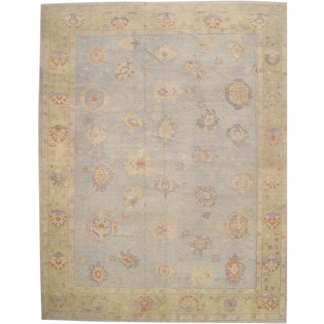 "Pasargad N Y Turkish Oushak Design Handmade Rug - 11'3"" x 14'4"" For Sale"