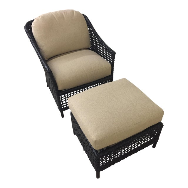 Lane Venture Platinum Chair & Ottoman - Image 1 of 7