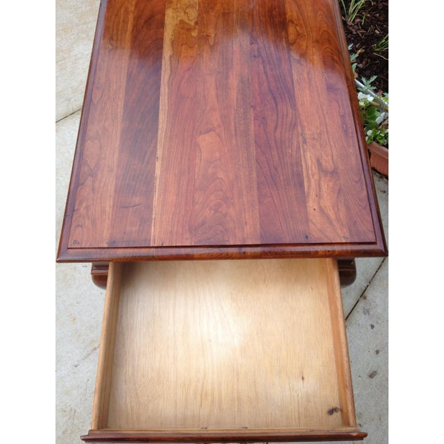 Red Amish Made Solid Cherry Side Table For Sale - Image 8 of 13