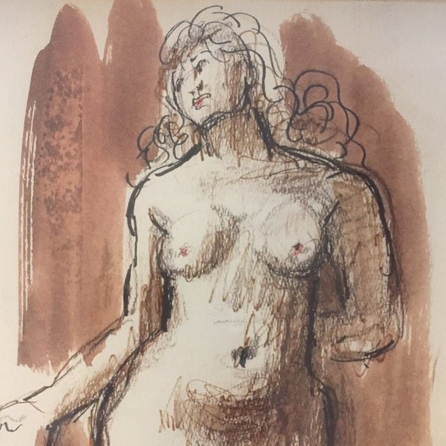 Figurative Original Vintage Female Nude Painting For Sale - Image 3 of 6