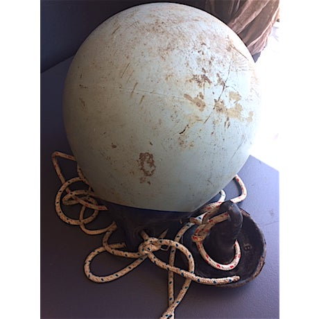 Vintage Boat Buoy With Anchor - Image 3 of 4
