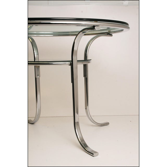 Mid-Century Modern Chrome & Glass Dining Table - Image 11 of 11