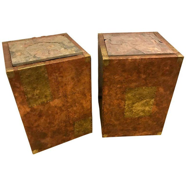 Pair of Mid-Century Modern Paul Evans Inspired End Tables or Pedestals For Sale - Image 12 of 12